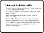 2 traumatic brain injury tbi
