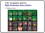 aac acceptance and use high technology interventions28