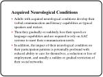acquired neurological conditions