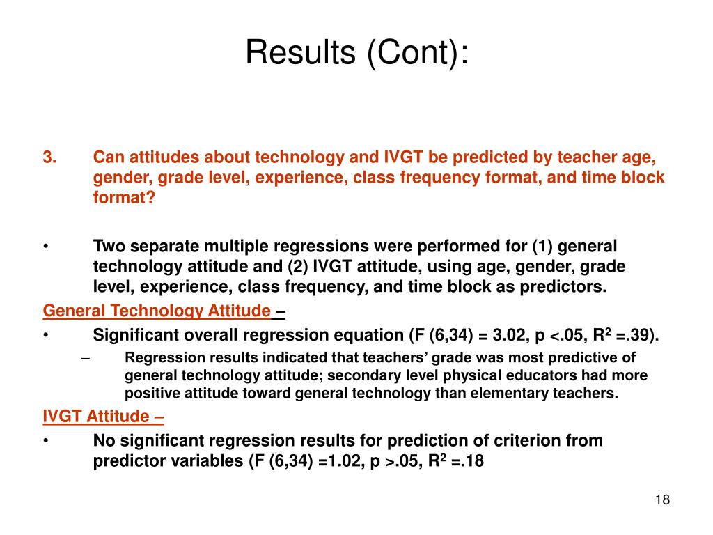 Results (Cont):