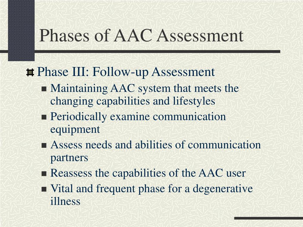 Phases of AAC Assessment