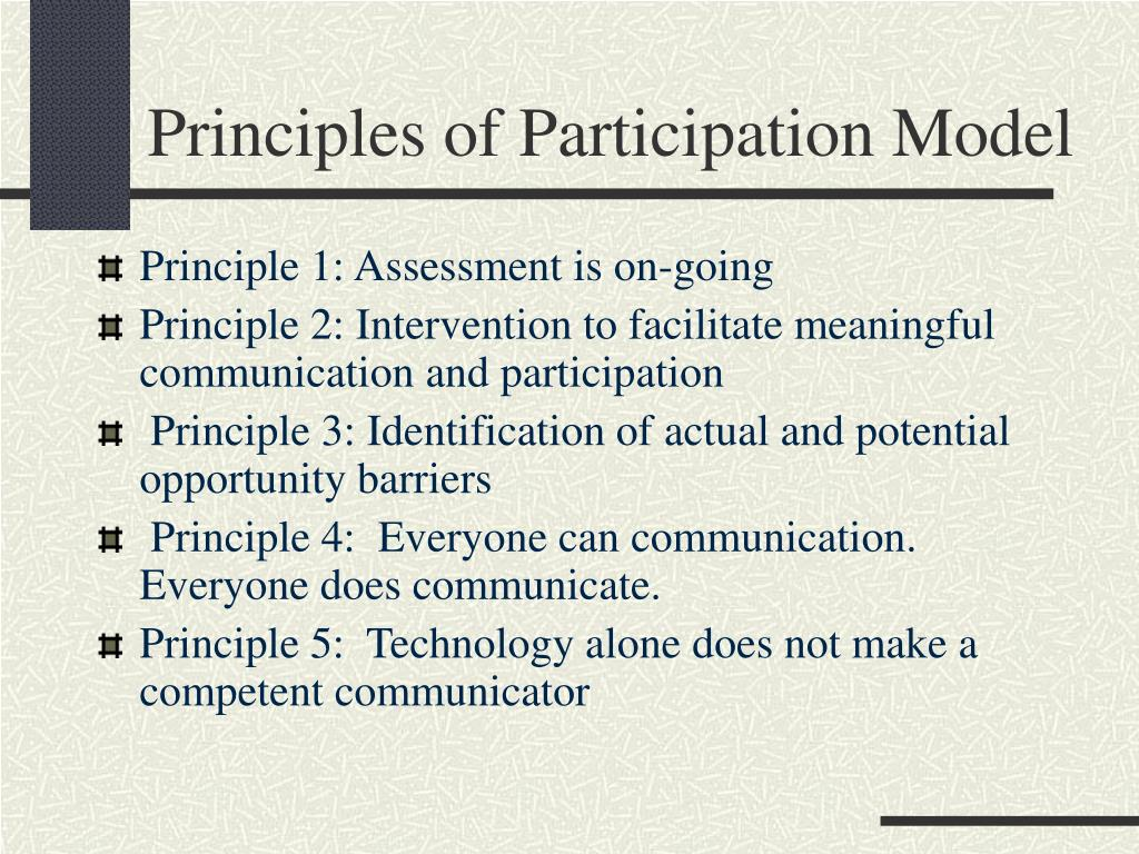 Principles of Participation Model