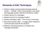 demands of aac techniques