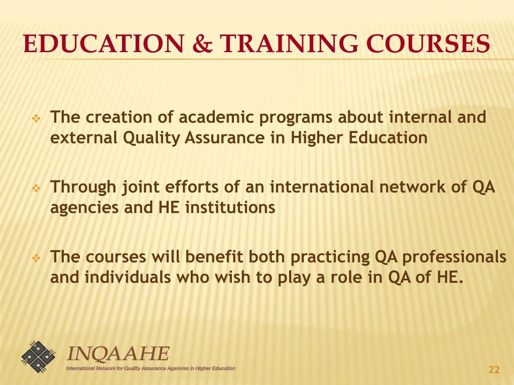 Education & Training courses