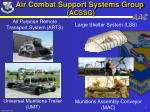 air combat support systems group acssg