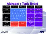 alphabet topic board