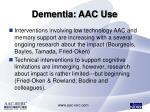 dementia aac use