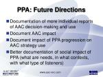 ppa future directions