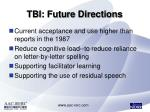 tbi future directions