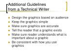 additional guidelines from a technical writer
