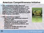 american competitiveness initiative