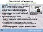directorate for engineering research and education themes fy 2007 fy 200845