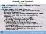 diversity and outreach background