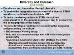 diversity and outreach goals for eng