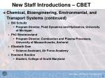new staff introductions cbet5