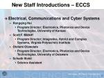new staff introductions eccs
