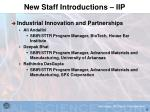 new staff introductions iip