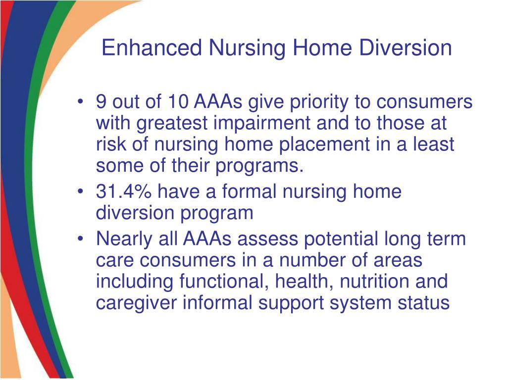 Enhanced Nursing Home Diversion