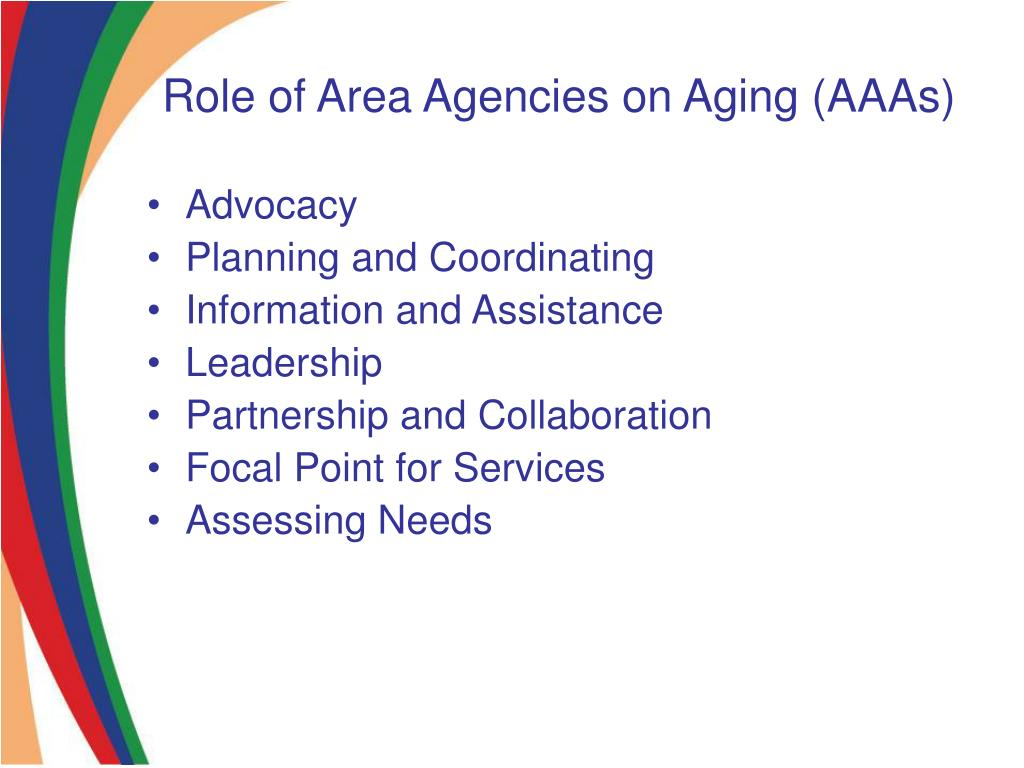 Role of Area Agencies on Aging (AAAs)