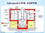 advanced lwr esbwr
