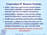 generation iv reactor systems