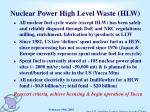 nuclear power high level waste hlw