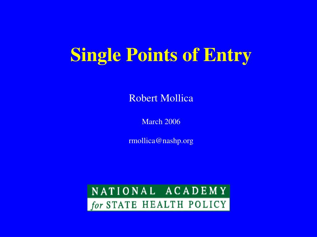 single points of entry l.