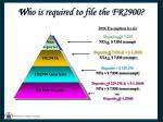 w ho is required to file the fr290019