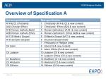 overview of specification a