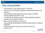why choose aqa