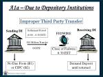 a1a due to depository institutions8