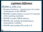 legitimate differences26