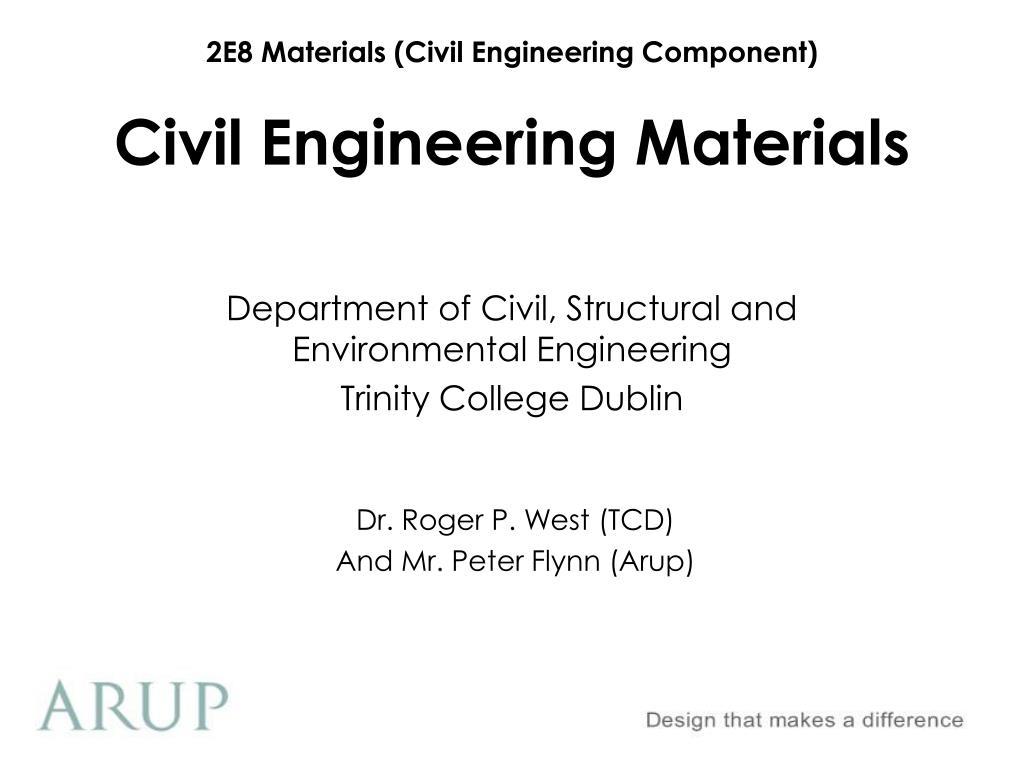 civil engineering materials l.