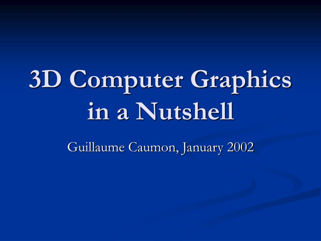 3d computer graphics in a nutshell l.