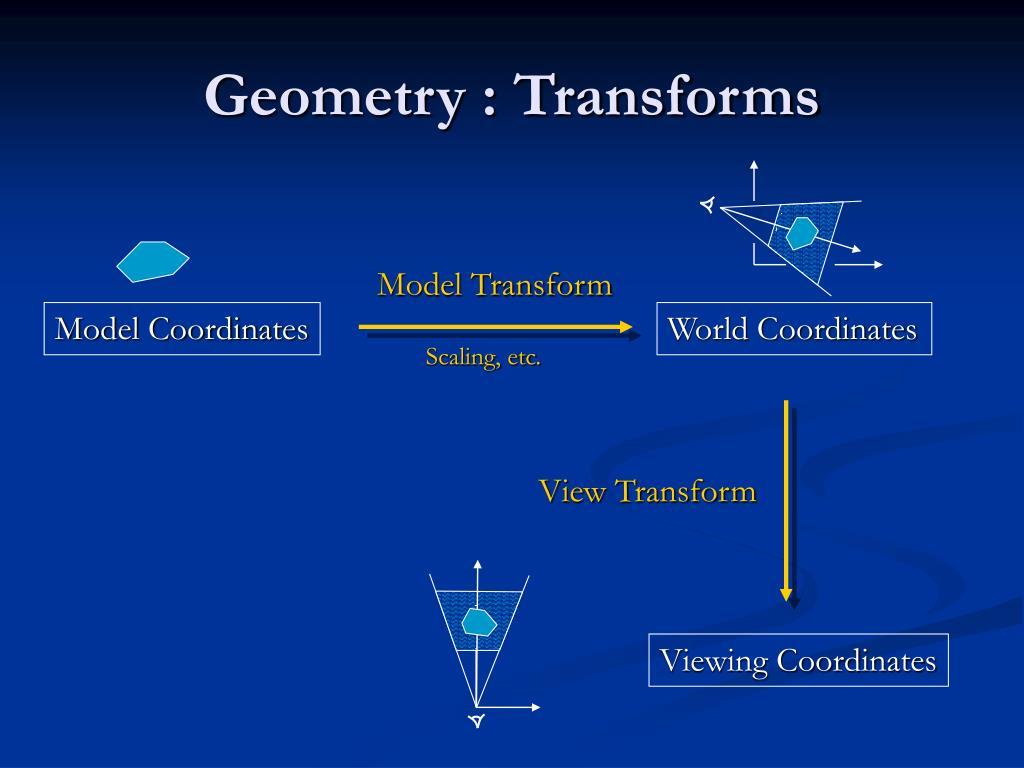 Geometry : Transforms
