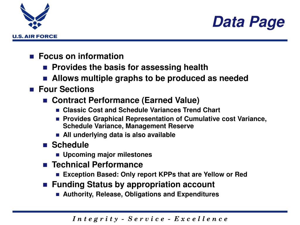 Data Page