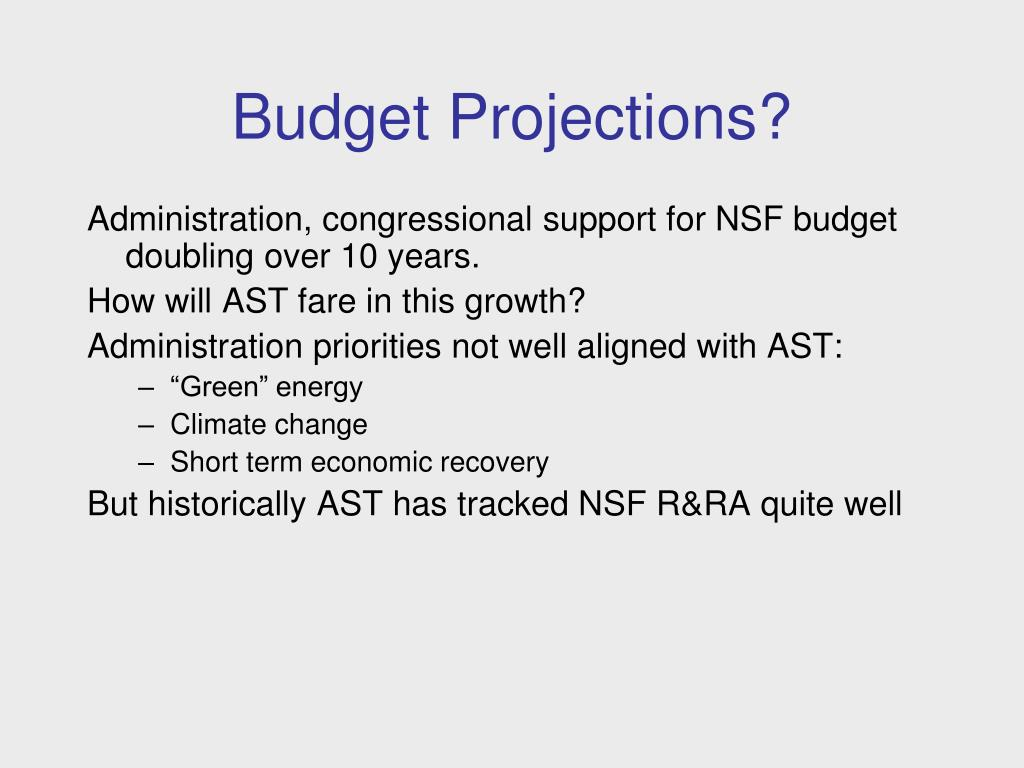 Budget Projections?