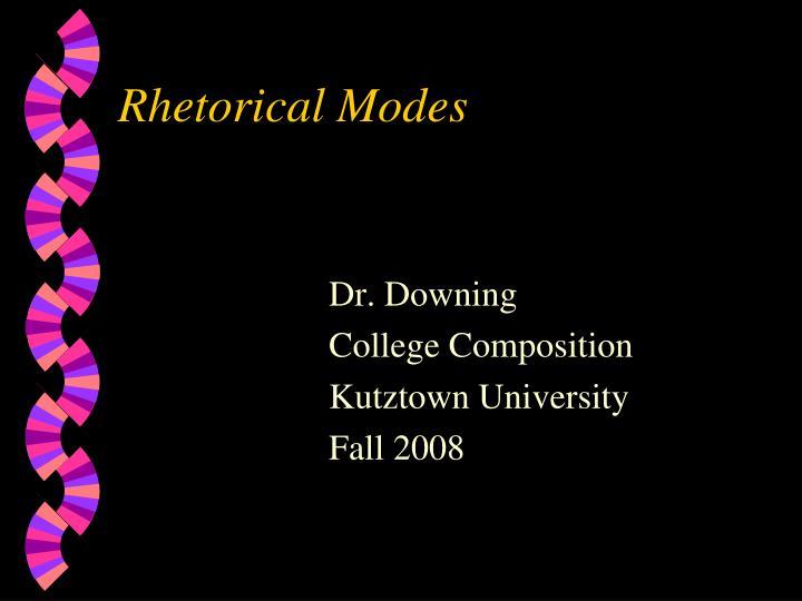 rhetorical modes n.