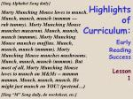 highlights of curriculum early reading success lesson 115