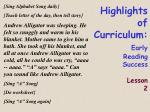 highlights of curriculum early reading success lesson 219