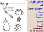 highlights of curriculum early reading success lesson 3 sample worksheet 1 of several