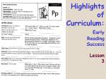 highlights of curriculum early reading success lesson 3