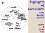 highlights of curriculum early reading success lesson 3 visual aide