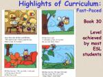 highlights of curriculum fast paced book 30 level achieved by most esl students65