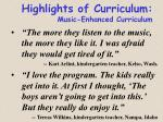 highlights of curriculum music enhanced curriculum3