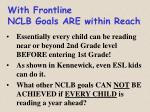 with frontline nclb goals are within reach