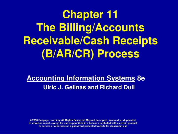 chapter 11 the billing accounts receivable cash receipts b ar cr process n.