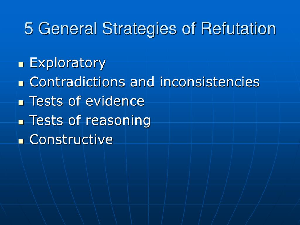 5 General Strategies of Refutation