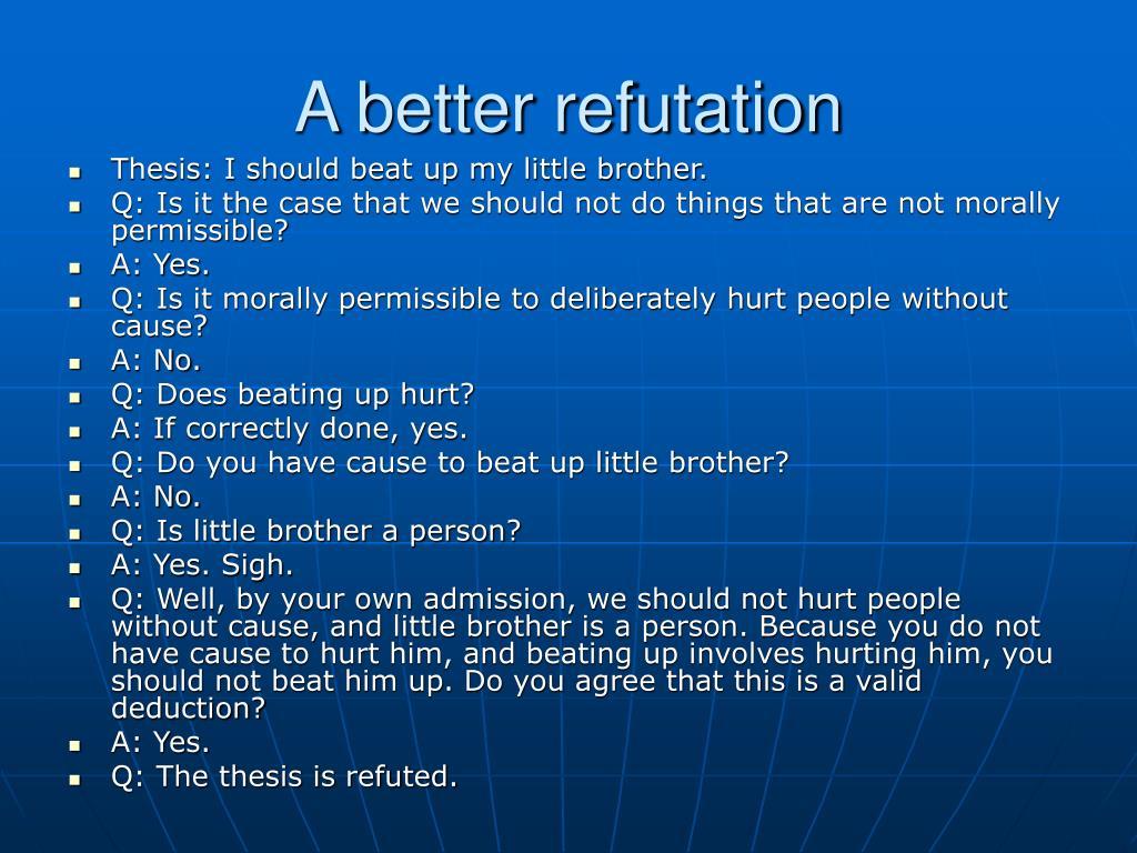 A better refutation