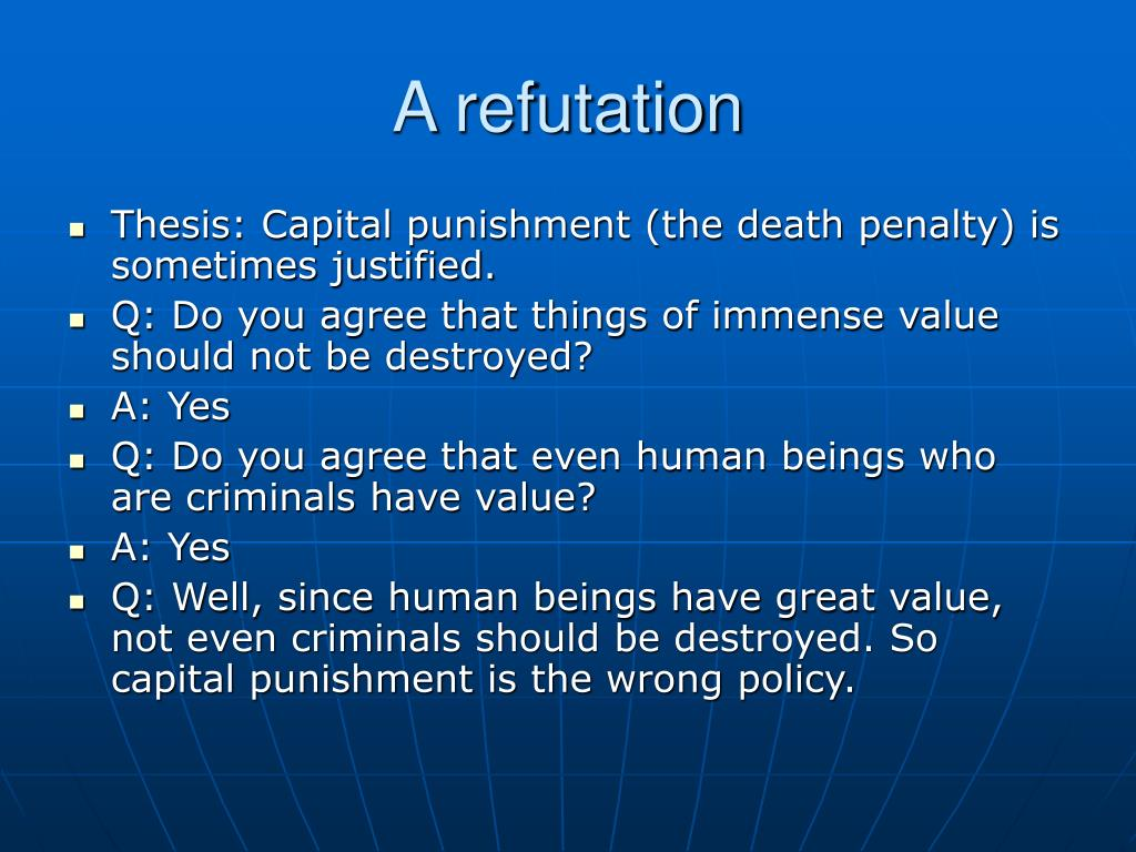 is capital punishment justified